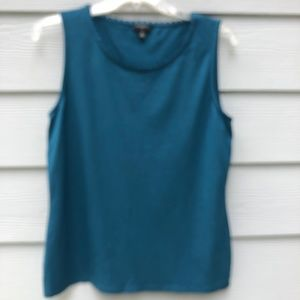 Talbots Blue Stretch Tank Medium Petite
